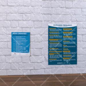 Adesivi espositori poster informativi